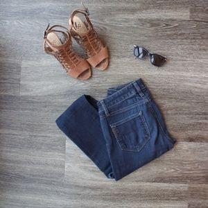 Paige Skyline Skinny Blue Jeans